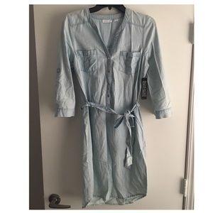 NWT- New York and Co light denim dress XS